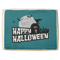 Happy Halloween Shortbread Cookie