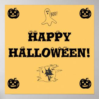 Happy Halloween sign - door decoration Poster