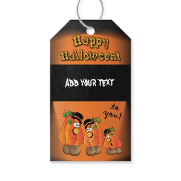 Halloween Themed Happy Halloween Silly Pumpkins Gift Tags