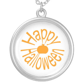 Happy Halloween Silver Plated Necklace