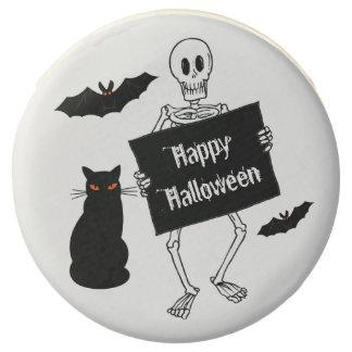 Happy Halloween Skeleton Bats Cats Favors