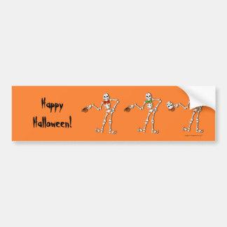 Happy Halloween Skeleton bumber sticker Car Bumper Sticker