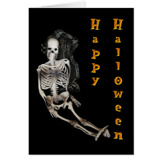 Happy Halloween Skeleton Cards