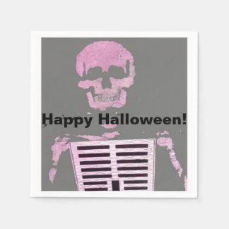 Happy Halloween Skeleton Graffiti, Paris Paper Napkin