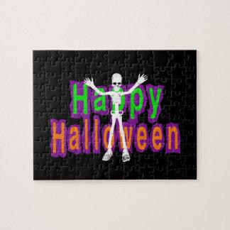 Happy Halloween Skeleton Jigsaw Puzzle