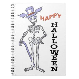Happy Halloween Skeleton Note Books