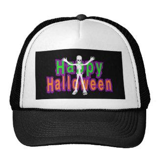 Happy Halloween Skeleton Trucker Hat