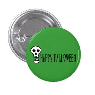 Happy Halloween Skull 1 Button