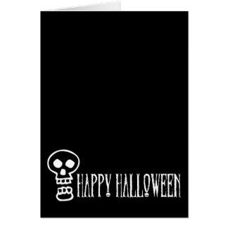 Happy Halloween Skull 1 Card