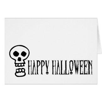 Happy Halloween Skull 1 Cards