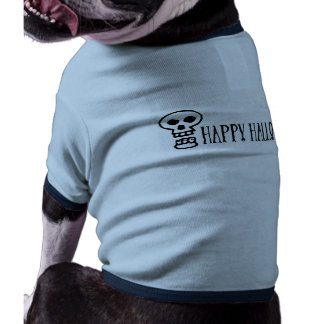 Happy Halloween Skull 1 Dog Tshirt