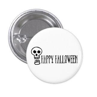 Happy Halloween Skull 1 Pinback Button