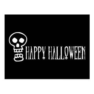 Happy Halloween Skull 1 Postcard