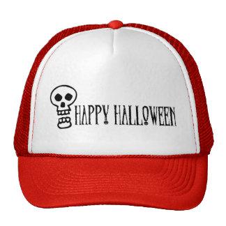 Happy Halloween Skull 1 Trucker Hats