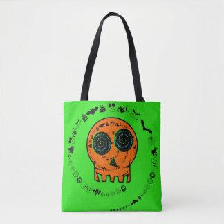 HAPPY HALLOWEEN [skull 3] Tote Bag