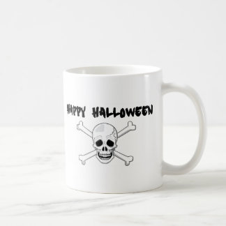 Happy Halloween Skull and Crossbones Coffee Mug