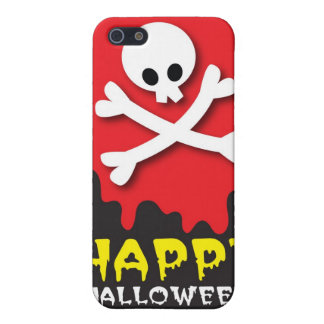 Happy Halloween! skull and crossbones Cover For iPhone SE/5/5s