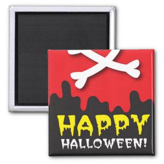 Happy Halloween! skull and crossbones Magnet