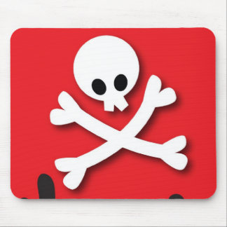 Happy Halloween! skull and crossbones Mouse Pad