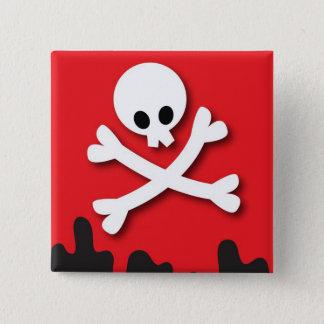 Happy Halloween! skull and crossbones Pinback Button