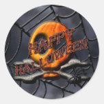 Happy Halloween Skull and Crossbones Stickers