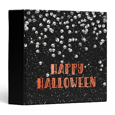 "Halloween Themed Happy Halloween Skull and Glitter 1.5"" Photo Album 3 Ring Binder"