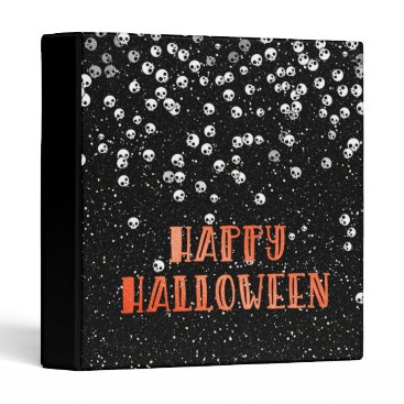 "Halloween Themed Happy Halloween Skull and Glitter 1"" Photo Album Binder"