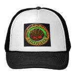 Happy Halloween Skull BLACK bg Trucker Hat