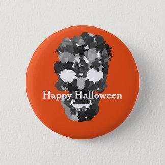 Happy Halloween Skull Button