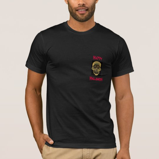 Happy, Halloween-Skull Design-T-Shirt T-Shirt