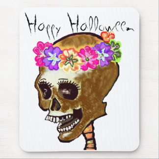 Happy Halloween Skull Mouse Pad