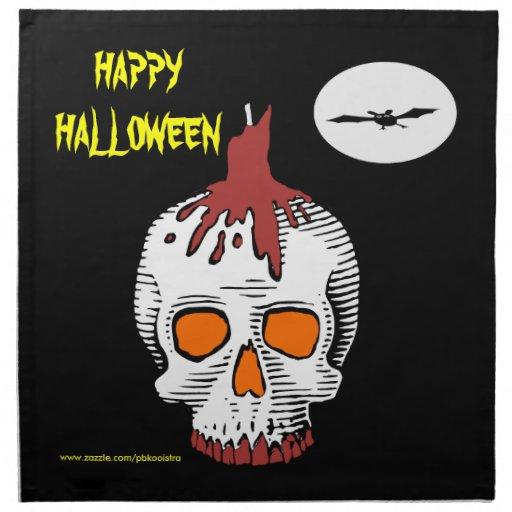 Happy Halloween Skull Napkin