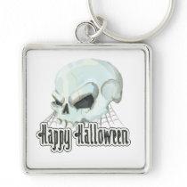Happy Halloween Skull square Keychain