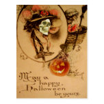 Happy Halloween Skull Zombie Undead Jack O Lantern Postcards