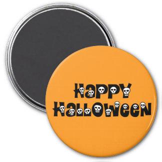 Happy Halloween Skulls Magnet