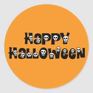 Happy Halloween Skulls Sticker