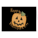 Happy Halloween Smiling Jack O'Lantern Greeting Cards