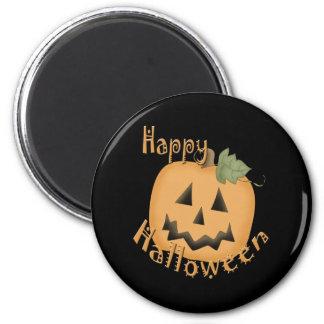 Happy Halloween Smiling Jack O'Lantern Fridge Magnets
