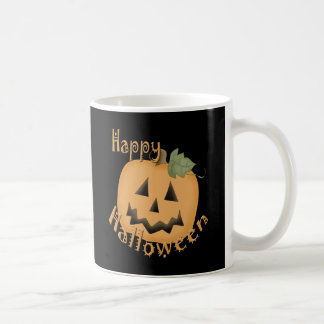 Happy Halloween Smiling Jack O'Lantern Classic White Coffee Mug