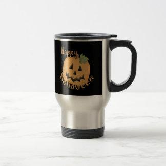 Happy Halloween Smiling Jack O'Lantern 15 Oz Stainless Steel Travel Mug