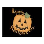 Happy Halloween Smiling Jack O'Lantern Postcard