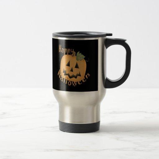 Happy Halloween Smiling Jack O'Lantern Travel Mug