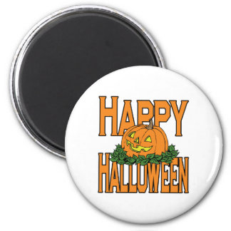 Happy Halloween Smiling Pumpkin Magnet
