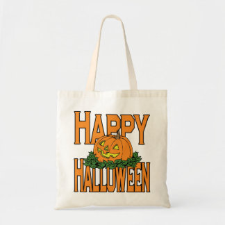 Happy Halloween Smiling Pumpkin Tote Bag