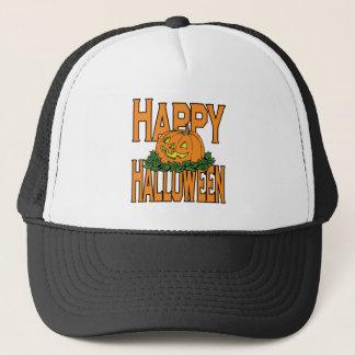 Happy Halloween Smiling Pumpkin Trucker Hat