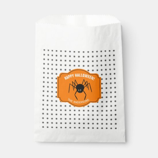 Happy Halloween Spider ID215 Favor Bag