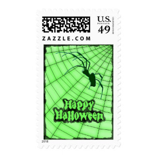 Happy Halloween Spider Postage