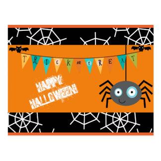 Happy Halloween Spider Postcard