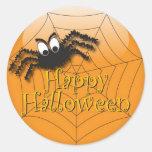 Happy Halloween Spider Sticker