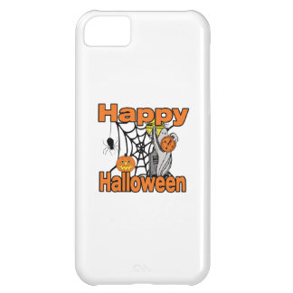 Happy Halloween Spider Web Ghost Case For iPhone 5C